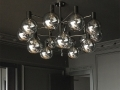 Hans-Agne 15 Smoked Globes Chandelier