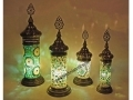 Yeşil Mozaik Taşlı Masa Lambası