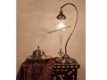 Osmanlı Üçgen Camlı Kuğu Masa Lambası