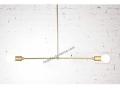 Perchoir Mid Century Modern Brass Chandelier