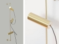 Handcrafted Brushed Brass Wall Sconce