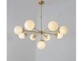 Modernist Chandelier Glass Balls Pendant