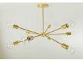 9 Socket Mid-Century Brass Sputnik