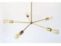 5 - Light Brass Pinwheel Chandelier