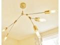 Modern Brass Branching Chandelier