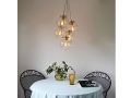 Globe Chandelier With 5 Large Pendant