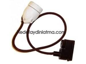 Kahverengi Kumaş Kablo