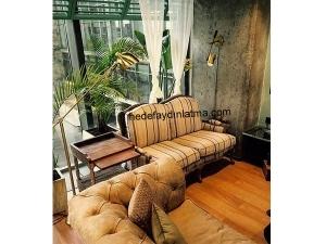 Brass Mouille Floor Lamp