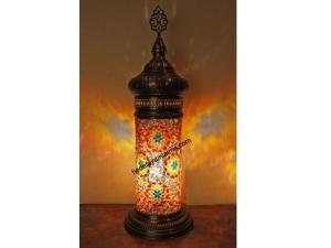 Çiçek İşlemeli Mozaik Lambader