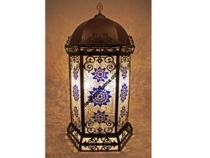Dekoratif İşlemeli Mozaik Lambader
